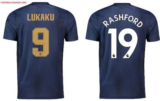 Manchester United 2018 2019 adidas Third Football Kit, Soccer Jersey, Shirt, Maillot, Camiseta, Camisa, Trikot