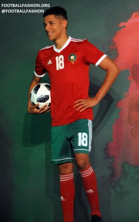 Morocco 2018 2019 World Cup adidas Football Kit, Soccer Jersey, Shirt, Maillot, Coupe du Monde