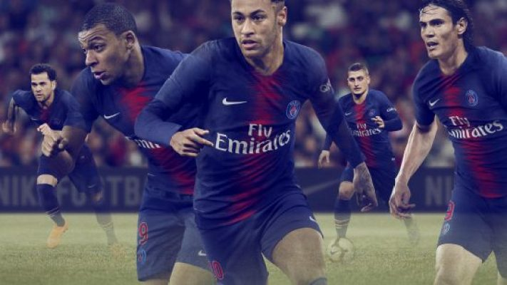Paris Saint-Germain 2018 2019 Nike Home Football Kit, Soccer Jersey, Shirt, Maillot, Camiseta, Camisa, Trikot