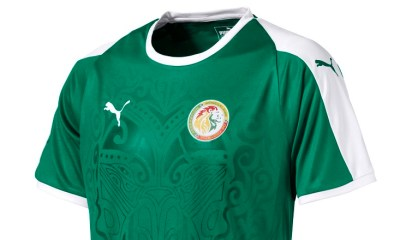 Senegal 2018 World Cup PUMA Green Away Football Kit, Soccer Jersey, Shirt, Maillot