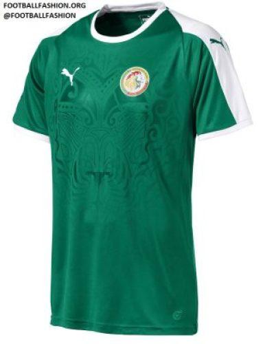 Senegal 2018 World Cup PUMA Green Away Football Kit, Soccer Jersey, Shirt, Maillot