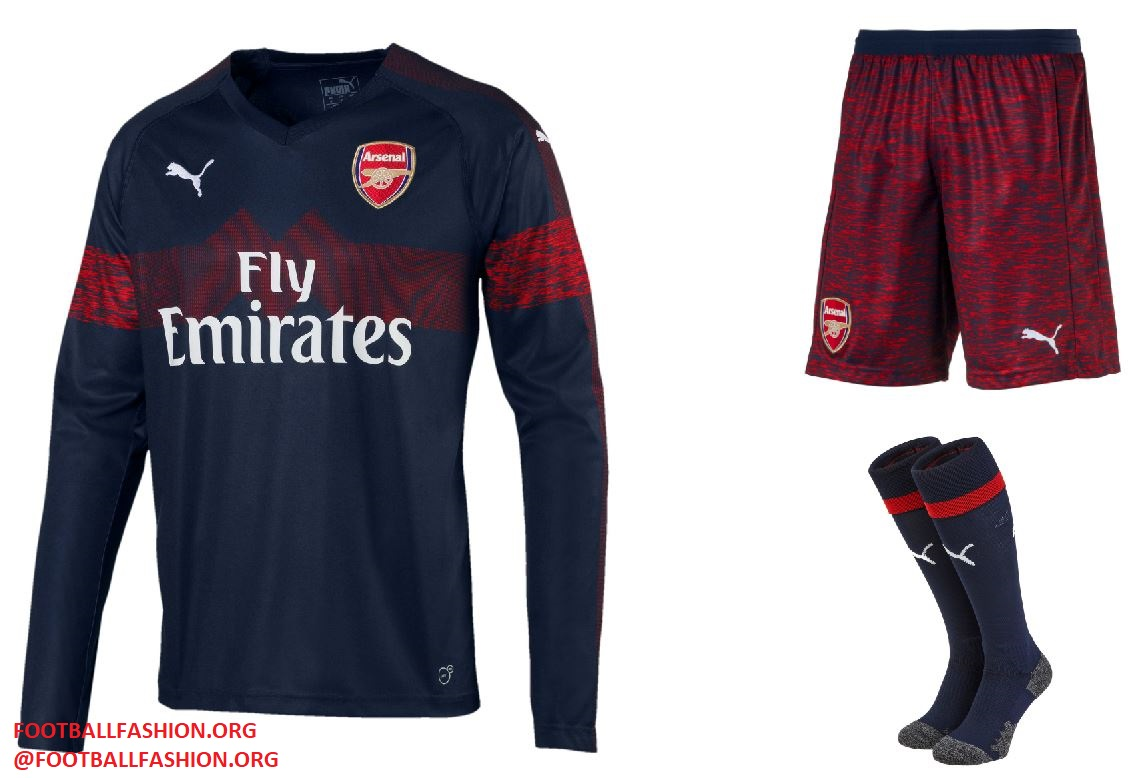 64b2513dfaf Arsenal FC 2018 2019 PUMA Blue Away Football Kit, Soccer Jersey, Shirt,  Maillot