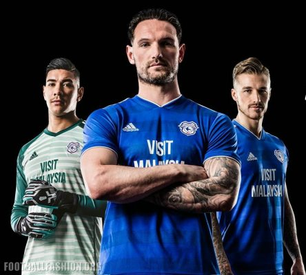 Cardiff City Unveil 2018 2019 Home Football Kit for Premier League Return, Soccer Jersey, Shirt