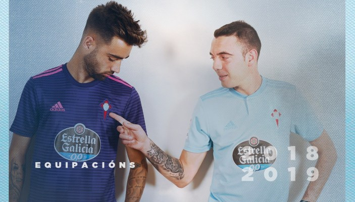 Celta de Vigo 2018 2019 adidas Home and Away Football Kit, Soccer Jersey, Shirt