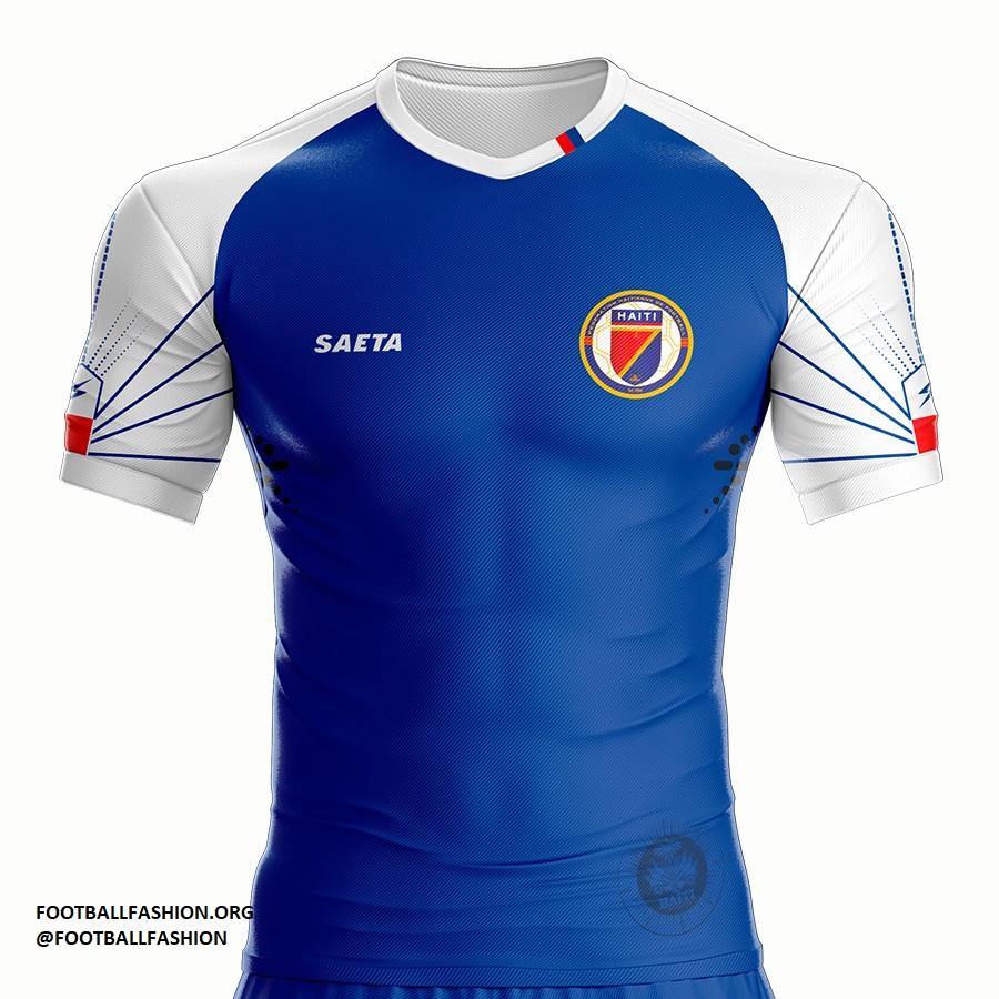 Haiti 2018/19 Saeta Home Jersey - FOOTBALL FASHION ORG