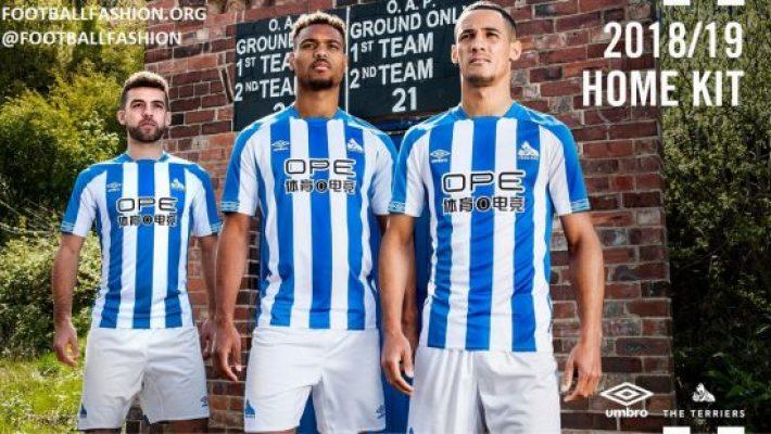 Huddersfield Town 2018 2019 Umbro Home Football Kit, Soccer Jersey, Shirt
