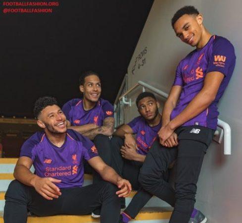 Liverpool FC 2018 2019 Purple New Balance Away Football Kit, Soccer Jersey, Shirt, Camiseta, Camisa, Maillot, Trikot