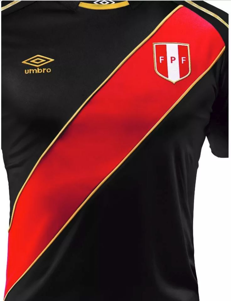 6eb672e75 The Peru 2018 limited edition shirt uses the same Umbro design as the  team s much sought after World Cup home kit. It has a white based instead  of the ...