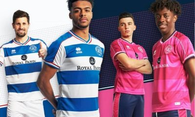 Queens Park Rangers 2018 2019 Errea Home and Away Football Kit, Soccer Jersey, Shirt