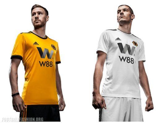 Wolves Unveil 2018 2019 adidas Premier League Football Kit, Soccer Jersey, Shirt