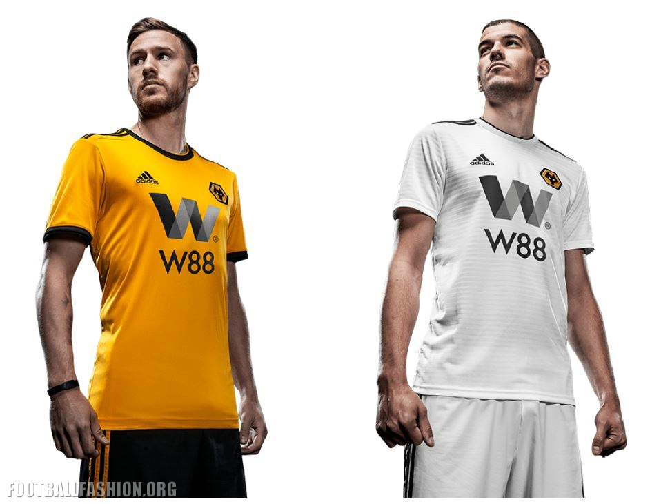 466f56585 Wolves Unveil 2018 19 adidas Premier League Kits - Football Fashion