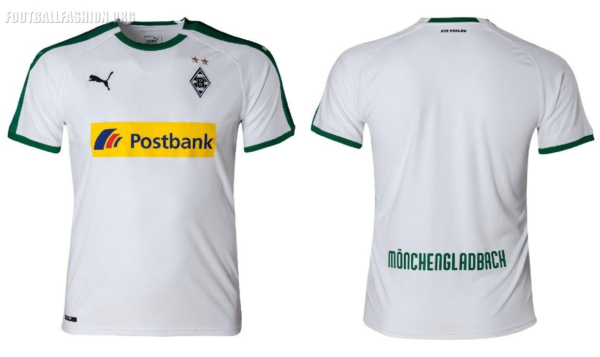 Borussia Mönchengladbach 201819 PUMA Home and Away Kits