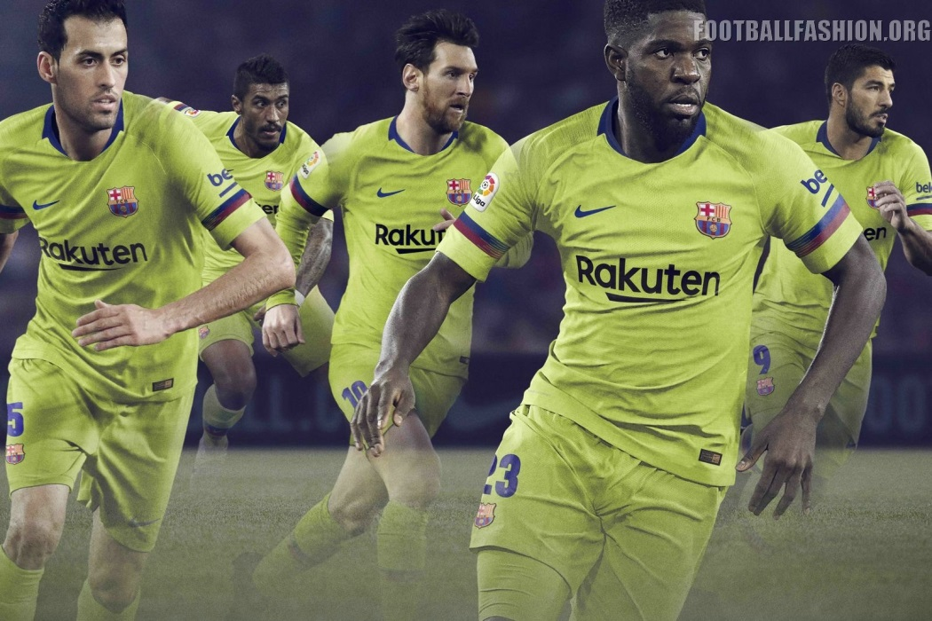 FC Barcelona 2018 19 Nike Away Kit – FOOTBALL FASHION.ORG 25d15a7bd