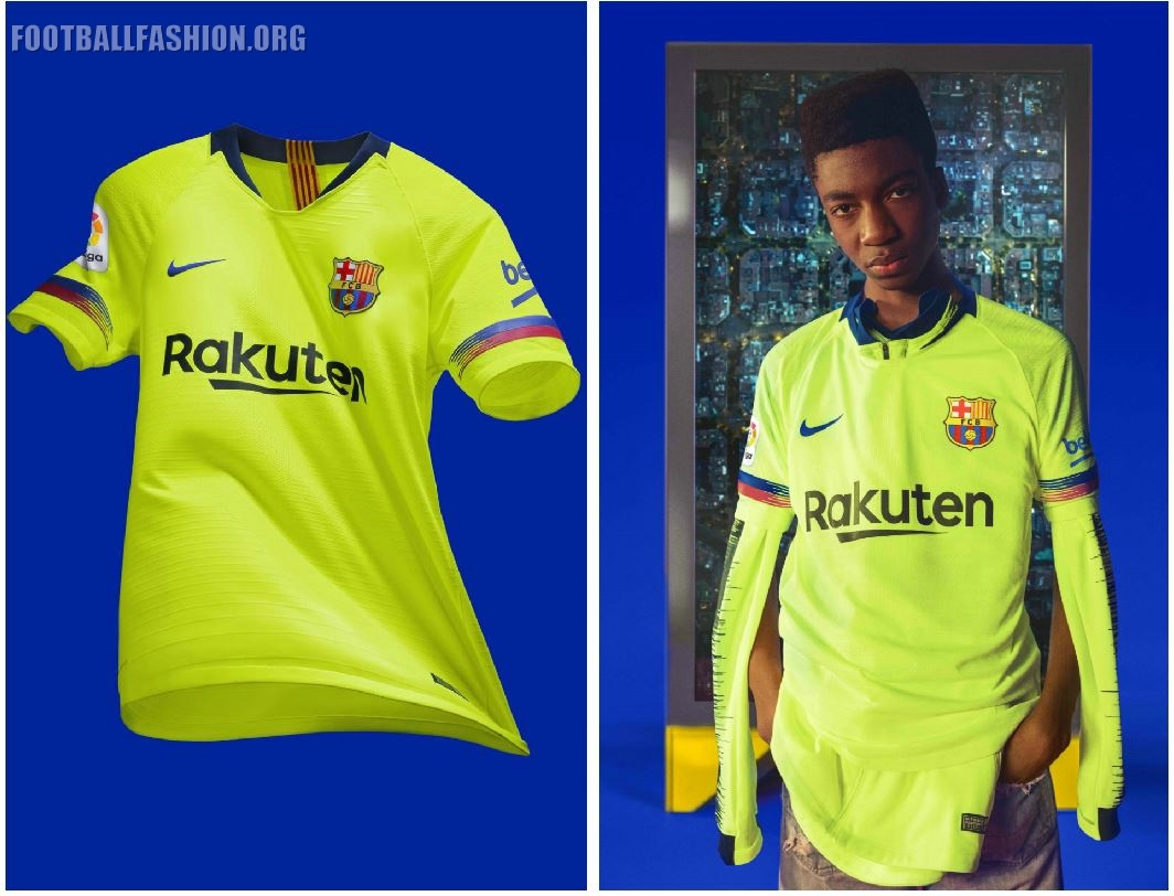 the best attitude f3363 76d0f FC Barcelona 2018/19 Nike Away Kit - FOOTBALL FASHION.ORG