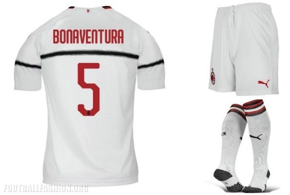 AC Milan 2018 2019 PUMA White Away Soccer Jersey, Shirt, Football Kit, Gara, Maglia, Camisa, Camiseta, Maillot, Trikot