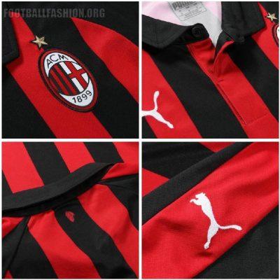 AC Milan 2018 2019 PUMA Red Black Home Soccer Jersey, Shirt, Football Kit, Gara, Maglia, Camisa, Camiseta, Maillot, Trikot