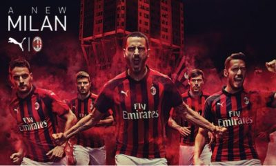 AC Milan 2018 2019 PUMA Red Black Home Soccer Jersey, Shirt, Football Kit, Gara, Maglia, Camisa, Camiseta, Maillot, Trikot
