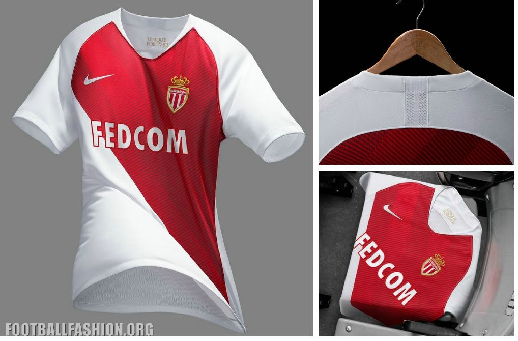 AS Monaco 2018 19 Nike Home Kit – FOOTBALL FASHION.ORG 81341096669