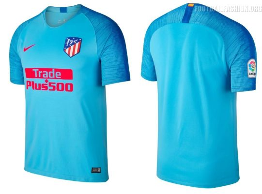 Atlético Madrid 2018 2019 Nike Away Football Kit, Soccer Jersey, Shirt, Camiseta de Futbol, Equipacion, Maillot, Trikot