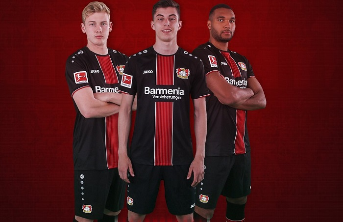 Bayer 04 Leverkusen 2018/19 Jako Home Kit - FOOTBALL FASHION