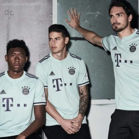 Bayern Munich 2018 2019 adidas Away Football Kit, Soccer Jersey, Shirt, Trikot, Maillot, Tenue, Camisa, Camiseta