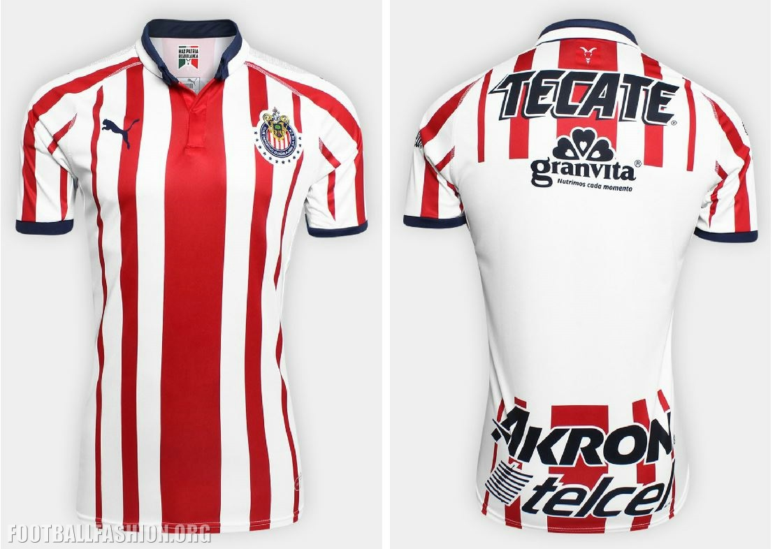 "a8ed3125c A stamp in the colors of the Mexican national flag tha reads ""Haz Patria  Rojiblanca"" is stamped on the inside neckline of the 18 19 Chivas home kit."