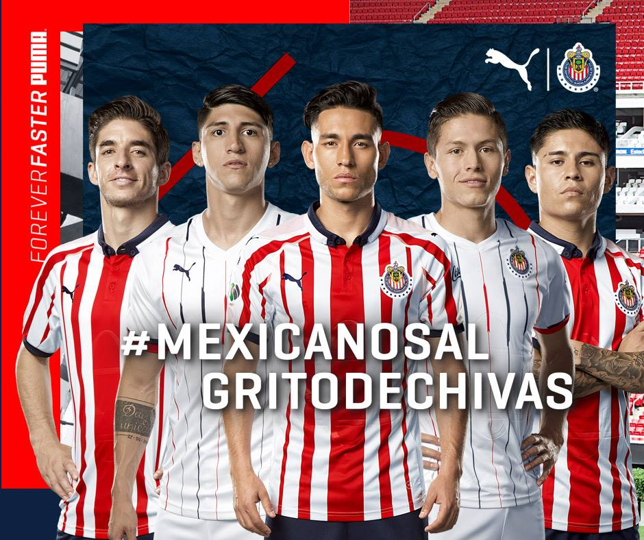 best website b8698 61f2d Chivas de Guadalajara 2018/19 PUMA Home and Away Jerseys ...