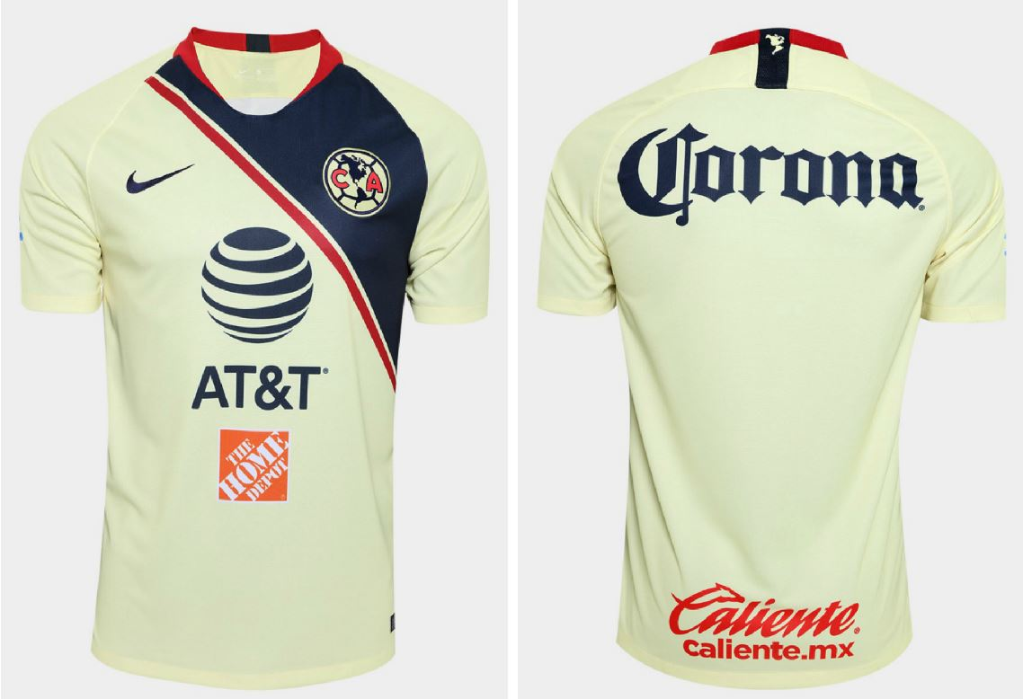 5c1904bb0 The Club América 2018 19 away kit uses the same Nike design (the Vapor  match jersey) as the home shirt.