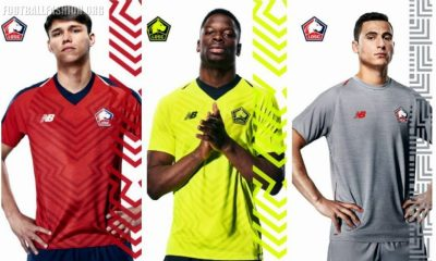 Lille OSC 2018 2019 New Balance Home, Away and Third Football Kit, Soccer Jersey, Shirt, Maillot