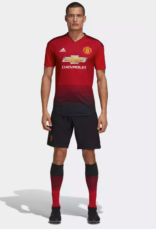 Manchester United 2018 19 adidas Home Kit – FOOTBALL FASHION.ORG bf797f28d