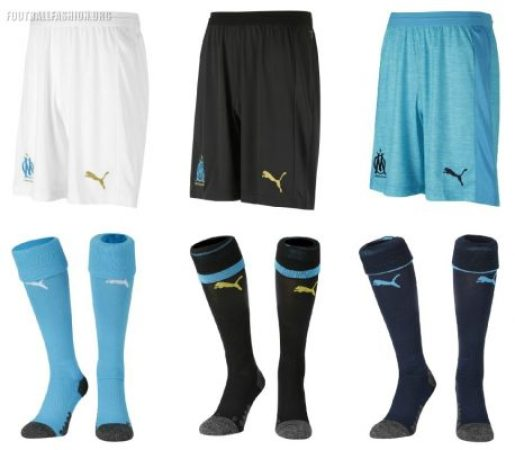 Olympique de Marseille 2018 2019 PUMA Home, Away and Third Football Kit, Soccer Jersey, Shirt, Maillot