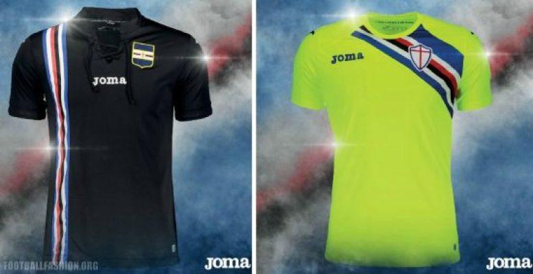Sampdoria 2018 2019 Joma Home, Away and Third Football Kit, Soccer Jersey, Shirt, Maglia, Gara