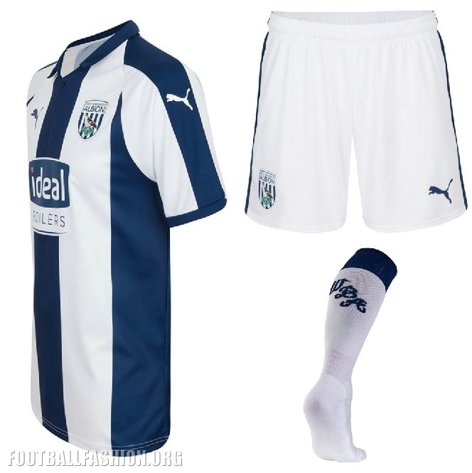 d0f83db1b West Bromwich Albion 2018 19 PUMA Home Kit - FOOTBALL FASHION.ORG