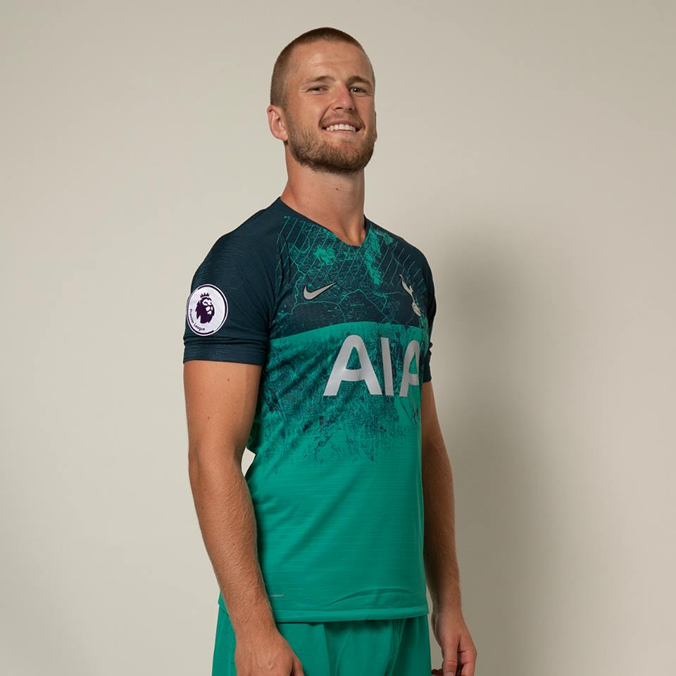 4cc482316e7 The Tottenham Hotspur 2018 19 Nike third jersey features a print that has a  contemporary