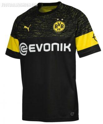 Borussia Dortmund 2018 2019 PUMA Black Away Football Kit, Soccer Jersey, Shirt, Trikot, Ausweichtrikot, Maillot, Camiseta, Camisa
