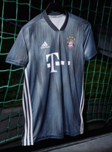Bayern Munich 2018 2019 adidas Gray Third UEFA Champions League Football Kit, Soccer Jersey, Shirt, Trikot, Maillot, Tenue, Camisa, Camiseta