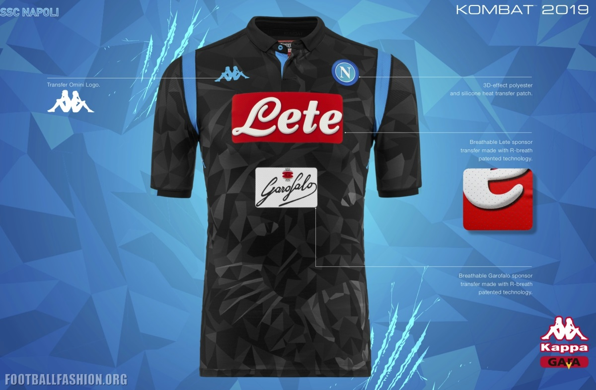 SSC Napoli 2018 19 Kappa Away Kit – FOOTBALL FASHION.ORG 11654d75d