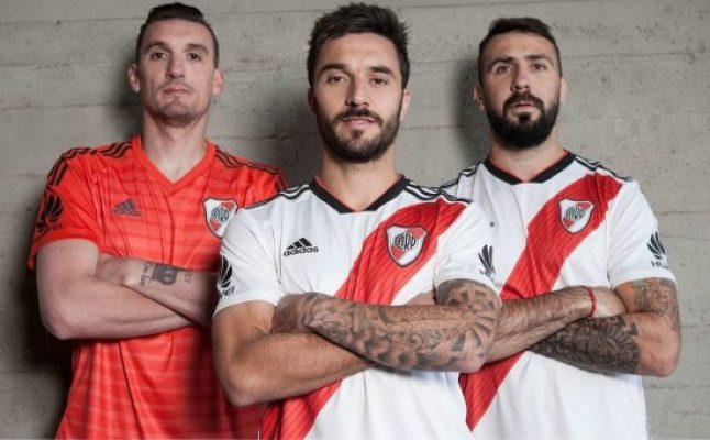River Plate 2018 2019 adidas Home Football Kit, Soccer Jersey, Shirt, Camiseta, Equipacion, Playera