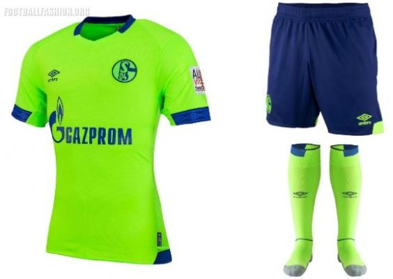 Schalke 04 2018 2019 Umbro Third Football Kit, Soccer Jersey, Shirt, Trikot, Ausweich-trikot