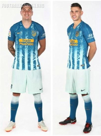 Atlético Madrid 2018 2019 Nike Third Football Kit, Soccer Jersey, Shirt, Camiseta de Futbol, Equipacion, Maillot, Trikot