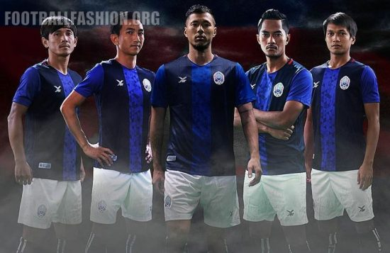Cambodia 2018 2019 FBT Home Football Kit, Soccer Jersey, Shirt