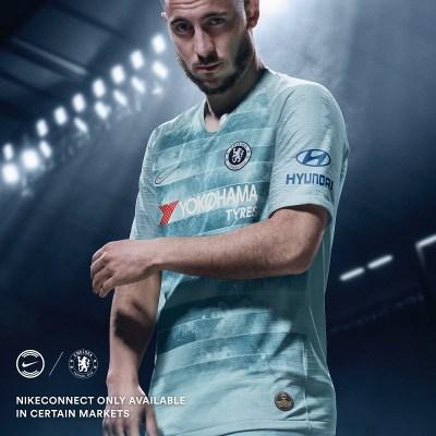 Chelsea FC 2018 2019 Nike Yellow Third Football Kit, Soccer Jersey, Shirt, Camiseta de Futbol, Camisa, Maillot, Trikot, Tenue, Dres