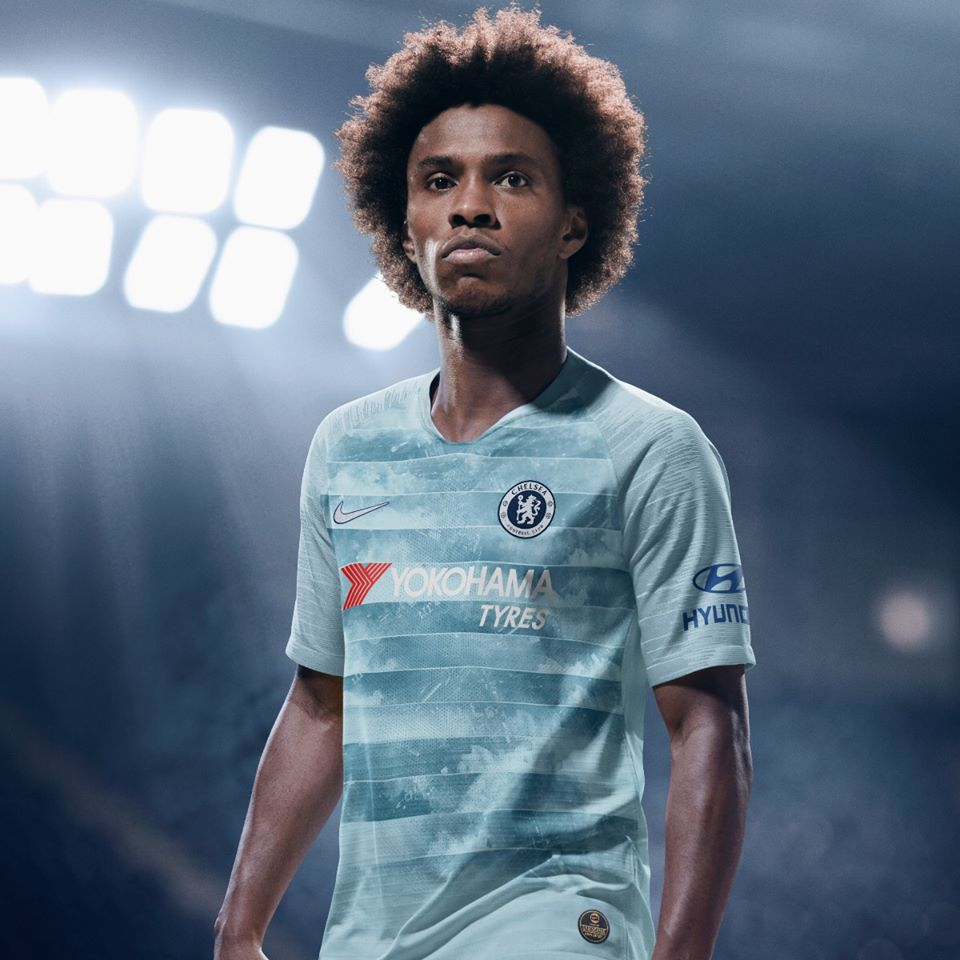 buy cheap b6d5d 6033e Chelsea FC 2018/19 Nike Third Kit - FOOTBALL FASHION.ORG