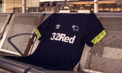 Derby County FC 2018 2019 Umbro Away and Third Football Kit, Soccer Jersey, Shirt