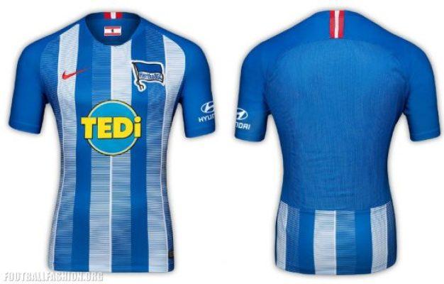 Hertha BSC 2018 2019 Nike Home and Away Football Kit, Soccer Jersey, Shirt, Trikot