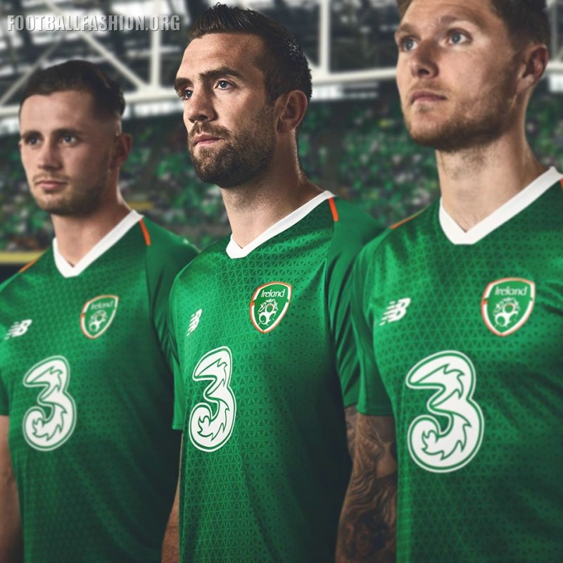 sale retailer adf25 0d8b3 Ireland 2018/19 New Balance Home Kit - FOOTBALL FASHION.ORG