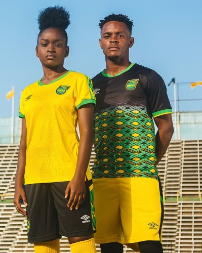 Jamaica 2018 2019 Umbro Home and Away Football Kit, Soccer Jersey, Shirt