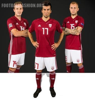 Latvia 2018 2019 adidas Home Fotball Kit, Soccer Jersey Shirt, Latvija