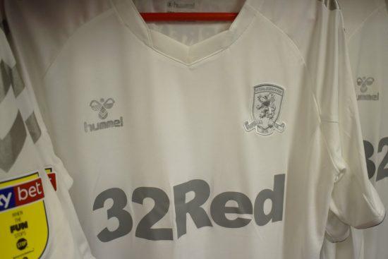 Middlesbrough FC 2018 2019 Hummel White Third Football Kit, Soccer Jersey, Shirt