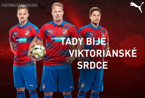 FC Viktoria Plzeň 2018 2019 PUMA Home, Away and Third Football Kit, Soccer Jersey, Shirt, Dres